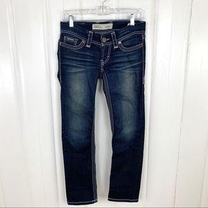 BKE: Dark wash Stella jeans